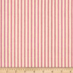 pink mattress ticking